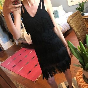 Sue Wong silk fringe dress